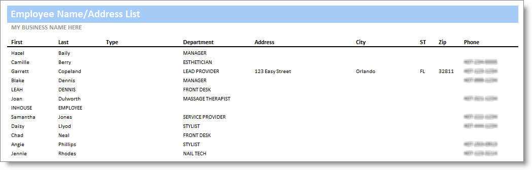 employee name address list